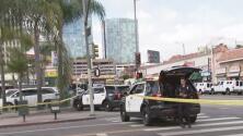 Gran despliegue policial en Los Ángeles tras el atrincheramiento de un sospechoso en un negocio