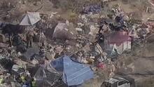 Desmantelan un campamento de indigentes en California ante amenaza de incendios