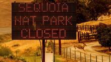 Dos incendios amenazan a las milenarias secuoyas de la Sierra Nevada de California