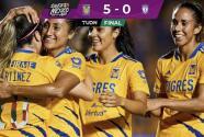 Tigres femenil golea 5-0 a Pachuca en la Jornada 9