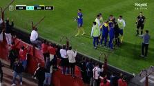 Fans de Huracán escupen a jugadores de Boca en calentamiento