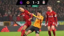 Raúl Jiménez anota espectacular gol pero Liverpool gana