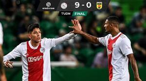 Ajax no tuvo piedad del Cambuur y continúa con paso invicto