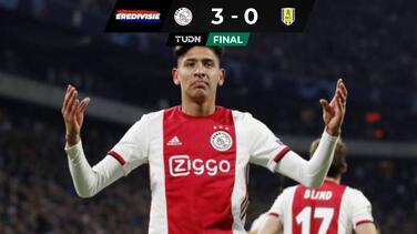 Edson fue titular después de dos meses y Ajax ganó al Waalwijk