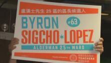 """""""Byron se ha dedicado a luchar por la gente"""": seguidores del candidato por el Distrito 25 se reúnen a esperar resultados"""