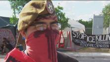 Activistas del movimiento 'Occupy ICE' aseguran sentirse en peligro