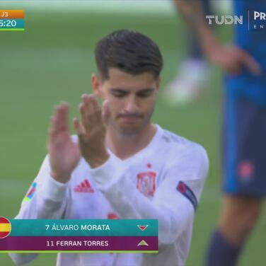 ¡Nobles! Álvaro Morata es despedido entre aplausos pese a sus fallos