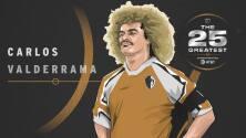 """The 25 Greatest: Carlos """"Pibe"""" Valderrama, un volante de clase mundial que maravilló a los fans de MLS con su fútbol y sus looks"""