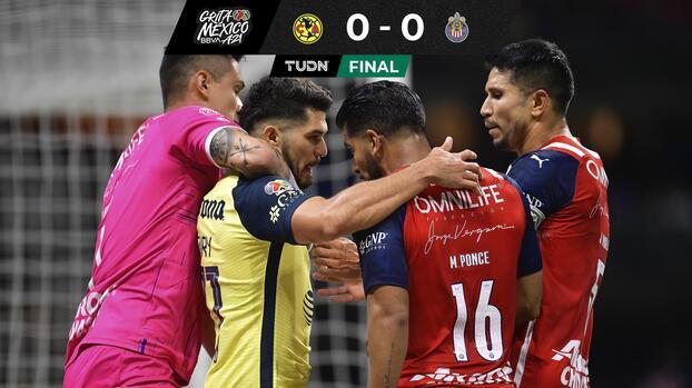 ¡Faltaron los goles! América y Chivas regalan Clásico pasional y polémico