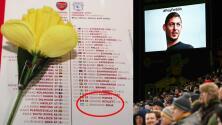 El loable gesto del Arsenal para Emiliano Sala en el duelo ante Cardiff