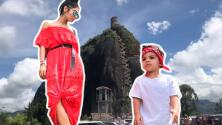 El atleta de mamá: mira al hijo de Alejandra Espinoza escalar una imponente piedra como si nada