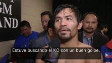 """Pacquiao: """"Si en algún momento siento que extraño el boxeo puedo regresar"""""""