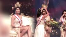 Escándalo en 'Mrs Sri Lanka': reina saliente le arranca la corona a la ganadora, porque creyó que estaba divorciada