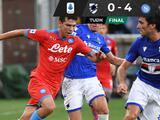 Hirving Lozano luce con dos asistencias en goleada del Napoli sobre Sampdoria