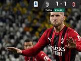 Juventus empata con Milan y se estanca en la zona de descenso
