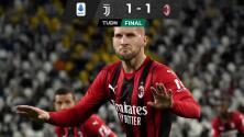 Milan evita el primer triunfo de la Juventus