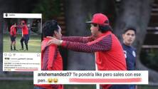 Edwin Hernández insultó a Cardozo por Instagram
