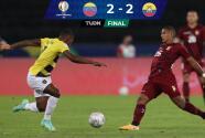 Resumen   Ecuador y Venezuela empatan 2-2 en un juego de alarido