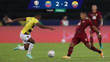 Resumen | Ecuador y Venezuela empatan 2-2 en un juego de alarido