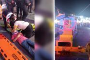 """""""Son canastillas de metal (...) el golpe es enormemente fuerte"""": Se desploma juego mecánico en Nuevo León, hiriendo a cuatro personas"""