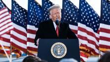 """El discurso de despedida de Trump como presidente: """"Volveremos, de alguna forma"""""""