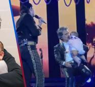 Alejandro Fernández 'se quiebra' al tener en el escenario a su nieta mientras su hijo le cantaba