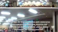 Presentan cargos contra manifestantes que perturbaron reunión de junta escolar de Granite