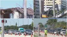 Remueven remanentes del puente de FIU que colapsó: esto debes saber antes de transitar por la zona