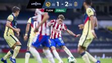 América 1-2 Chivas   El Rebaño avanza con 'Chicotazos' de antología