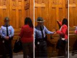 Arrestan a la representante Park Cannon por protestar contra proyecto de ley que restringe el derecho al voto en Georgia