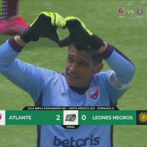 Resumen   Atlante hunde más a Leones Negros al derrotarlos 2-0