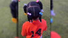 """""""Esto es inaceptable"""": sacan a niña de 6 años de partido de fútbol por su peinado"""