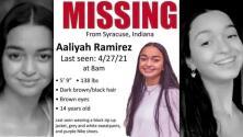 La búsqueda de la menor desaparecida en Indiana, Aaliyah Ramirez, se vuelve viral en las redes sociales