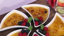 La preparación es más sencilla que la pronunciación: crème brûlée, un postre más que delicioso