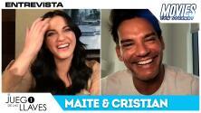Maite Perroni y Cristian de la Fuente revelan cómo es grabar las escenas grupales en El Juego De Las Llaves