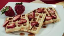 Waffles belgas con frutas