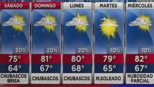 Chubascos y temperaturas frescas, el pronóstico del tiempo en Miami para este sábado