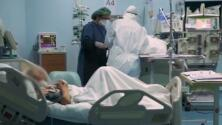 """Hospitals across the U.S. reaching """"breaking point"""" amid case surges"""