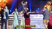 """""""Es un fraude"""": un concurso de belleza en México termina entre gritos y acusaciones de corrupción"""