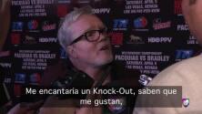 "Freddie Roach: ""Me gustaría que Pacquiao gane por KO a Bradley"""