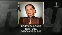 Muere la primera actriz Rosita Quintana a los 96 años: esta fue su trayectoria en cine y televisión