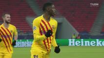 ¡La ventaja es 0-3! Dembélé se hace presente en el marcador del Barcelona