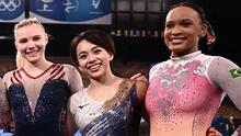 Estadounidense Carey ganó oro en suelo; brasileña Andrade fue quinta