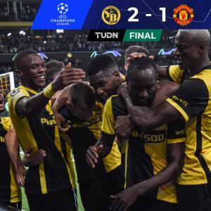 Young Boys arruina el regreso de CR7 al derrotar 2-1 al Manchester United