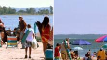 """""""Vinimos en familia"""": al son de salsa los bañistas disfrutaron del Día del Trabajo en Orchard Beach"""