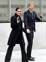 Photo © 2021 REX Features/Shutterstock /The Grosby Group Prince Harry and Meghan Markle arrive at One World Trade center observatory in New York City, NY, USA. Pictured: Prince Harry,Harry Windsor,Meghan Markle