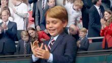 Eufórico e igualito a su papá: las fotos del príncipe George robándose el show en la Euro 2020