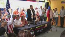 Venezolanos en Miami reaccionaron ante la difícil situación que atraviesa su país