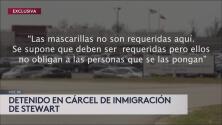 Exclusiva: Inmigrante detenido en Stewart denuncia que no se cumplen las medidas de protección contra el coronavirus