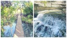 Este paraíso natural en el centro de Texas tiene cascadas y un puente colgante